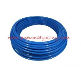 Przewód prosty poliuretanowy 6 x 4 niebieski