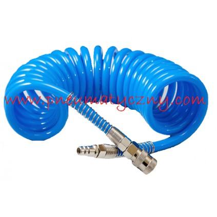 Wąż spiralny 8x12 5 metrowy poliuretanowy kompletny