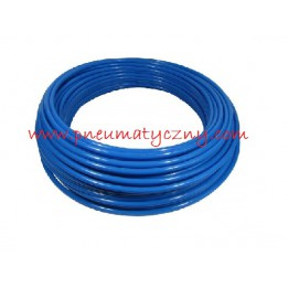 Przewód prosty poliuretanowy 12x8 niebieski